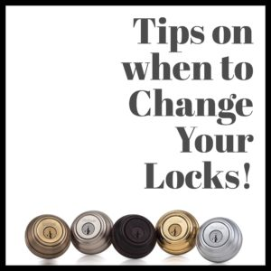 Change your locks for security